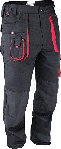 Yato - Pantaloni da lavoro, taglia S-XL, colore: Nero, Nero, YT-8028