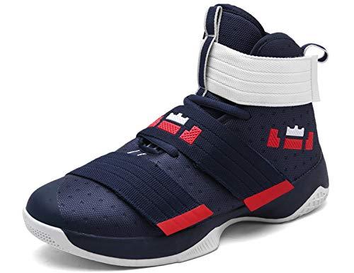 SINOES Herren Basketballschuhe Modische Schnürsenkel Atmungsaktiv Laufschuhe Profilsohle Anti-Rutsche Trainingsschuhe Sportschuhe