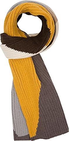 Sakkas CPXS1536 - Miller Unisex Long Ribbed Knit Aztec Winter Scarf - Mustard - OS