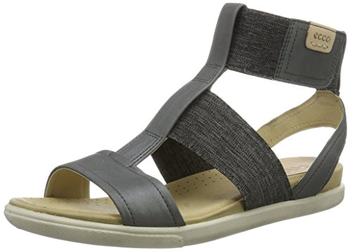 Ecco Damen Damara Sandal Knöchelriemchen, Grau (50456DARK Shadow/Powder), 41 EU