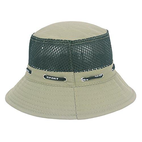 WYYY Chapeaux Hommes Visière Polyester De Coton Engrener Pliable Respirant Protection Contre Le Soleil À L'extérieur 55-60cm ( Couleur : Army Green )