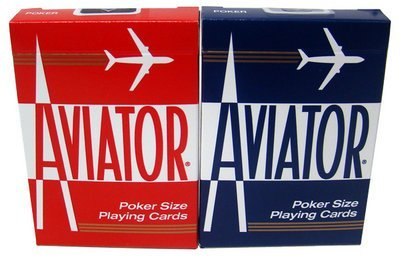 2 Decks Aviator Cards Red/Blue Poker Size