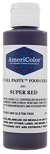 AmeriColor 133 ml Liquid Gel Lebensmittel Farbe, 4.5-Ounce, Super Red -