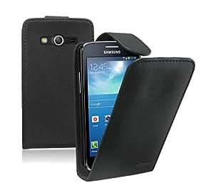 Membrane - Noir Etui Coque Samsung Galaxy Core 4G (Core LTE, SM-G3518, SM-G386F) - Flip Case Cover Housse