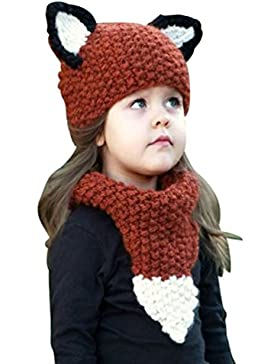 YiLianDa Divertente Cappello Bambino Inverno Caldo 1 Set Modello Fox Con Orecchio Sveglio Cappello Del Beanie...