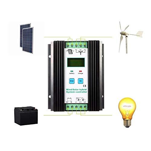 Especificaciones del producto:   Material: aleación de aluminio   Voltaje del sistema: 12V / 24V   Viento 800W + 400W energía solar es 24V   La energía solar Max.Wind 400W + 200W es 12V   Corriente de carga: 40A / 24V, 40A / 12V   La siguiente inf...