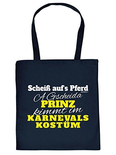 Happy Hipster Jutetasche/ Einkauftasche: A gscheida Prinz kimmt im Faschings Kostüm - Goodman Design ®