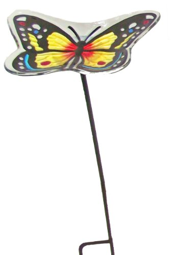 Continental Art Center cac2610350a blau Schmetterling Gartenstecker Vogelhaus, 9von 17,8cm - Butterfly Birdbath