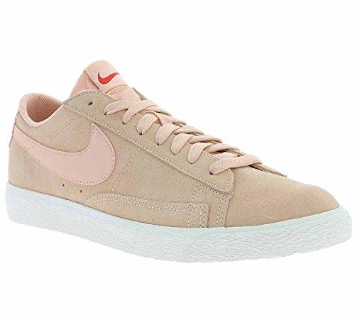 Rosa Nike Blazer (Nike Blazer Low Schuhe Herren Echtleder-Sneaker Turnschuhe Rosa 371760 801, Größenauswahl:43)