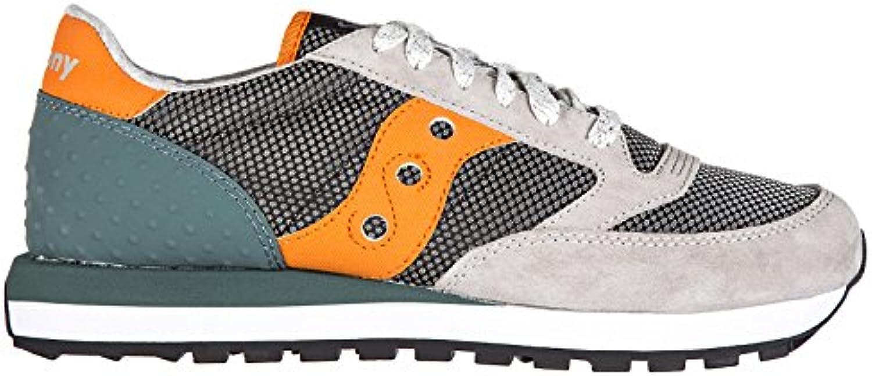 Saucony Herrenschuhe Herren Wildleder Sneakers Schuhe Jazz Original Grau