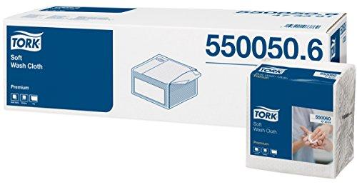Tork 473381 weiches Waschtuch Premium 1-lagig/extra weiche Pflegetücher für die Pflege von Patienten/strapazierfähig & effizient / 20 x 50 Tücher (29 x 29 cm)