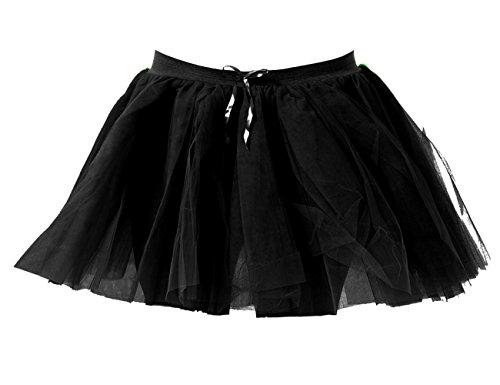 Janisramone Frauen Damen 3 Lagen Netz Über Tanz Henne Party Kostüm 80er Jahre Fancy Kleid Halloween Mini Tutu ()
