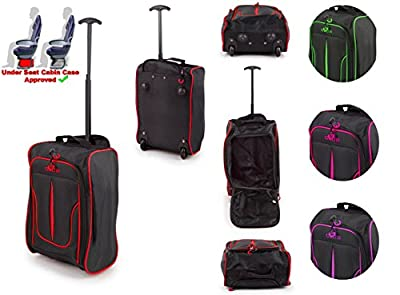 Small Underseat Cabin Hand Luggage Trolley Bag for Easyjet Plus, Flexi fare, Upfront & Extra Legroom (fits 42x35x20cm), Weekend trips & Kids/Children