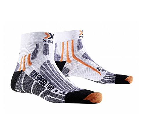 X-Socks Run Speed Two Calza Running, Uomo, Bianco (White/Black), 42/44