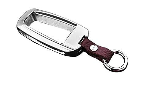 Happyit zinc alliage + Cuir Couverture de Clé de Voiture