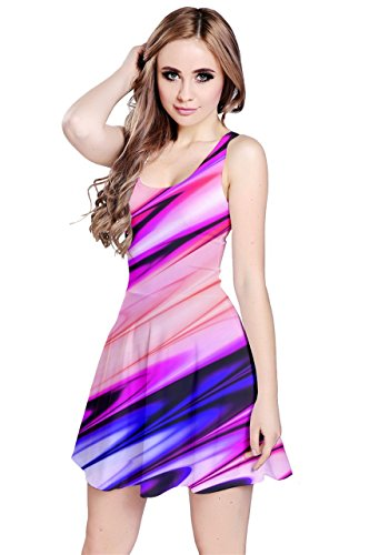CowCow - Robe - Femme Colorful Chevron Rose/violet