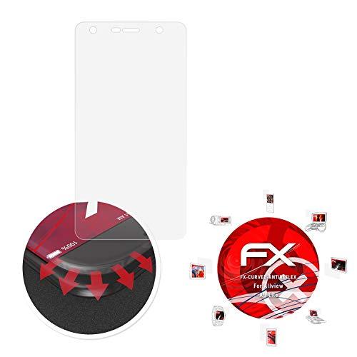 atFolix Schutzfolie passend für Allview A9 Lite Folie, entspiegelnde und Flexible FX Displayschutzfolie (3X)