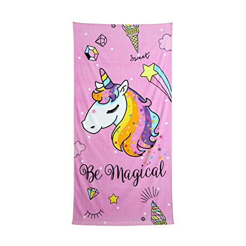 Secaneta - Toalla Playa Unicornio Infantil Niñas