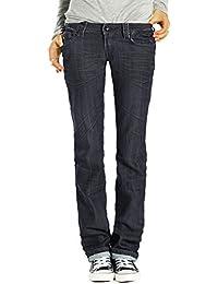 Bestyledberlin jean femme, jean straight cut taille basse j211P