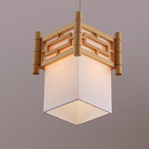 LIGHT Kreative Persönlichkeit Holz Gang Balkon Kronleuchter Neue Chinesische Ein-Kopf Kleine Kronleuchter Holz Kunst Restaurant Restaurant (Der Spiegel Mann Kostüm)