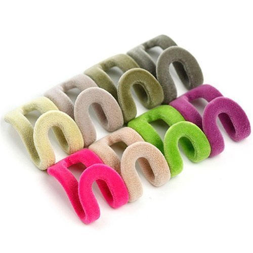 Lenhar- 30 piezas, ganchos fijo en cascada, para percha para ropa o accesorios. Ahorra Espacio con fijación fuerte y tacto y estilo suave (color al azar)