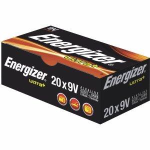 Energizer Batterien Ultra+ E-Block 9V VE=20 Stück Ultra Alkaline 9v Batterien