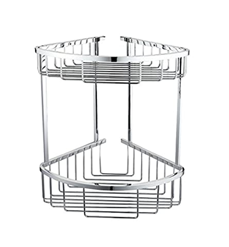 Twin Double Corner Wire Shower Caddy Shelf Basket Rack Soap