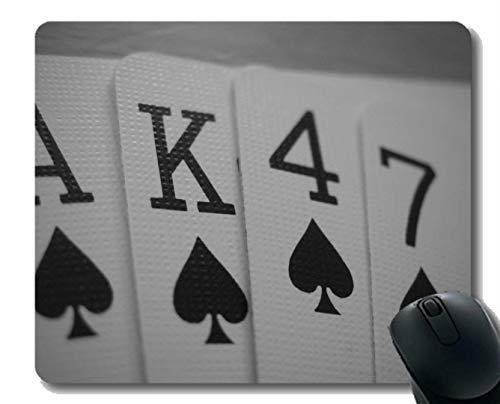 Beste Geschenkidee Mauspad, Waffe Pokerkarten Gummi Mousepad Genähte Kanten (Spielkarten Waffen)