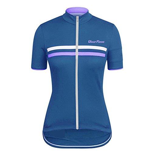 UFLYFROG #04 Neue kurze Ärmel Sommer Fahrradtrikot Langarm Shirt Damen Breathable Radfahren Clothes