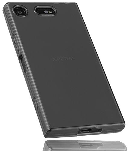 mumbi Schutzhülle für Sony Xperia XZ1 Compact Hülle transparent schwarz