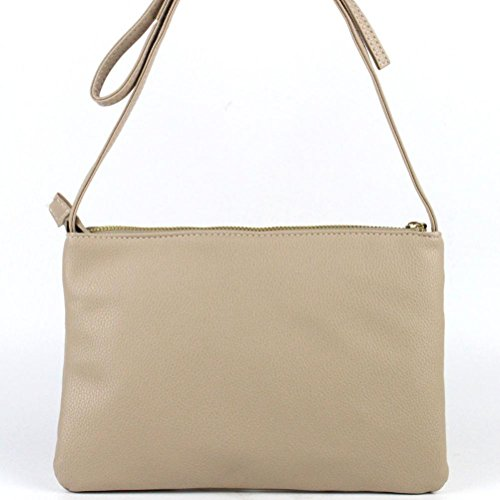 Transer PU leather Handbags & Single Shoulder Bags Women Zipper Bag Girls Hand Bag, Borsa a spalla donna Khaki 25cm(L)*17(H)*3cm(W) Khaki