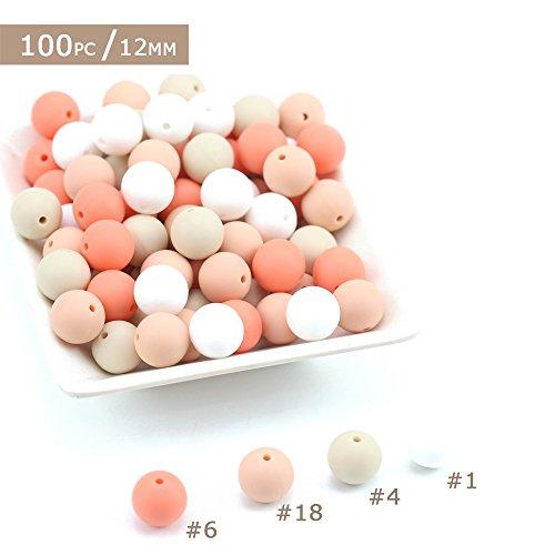 Best for baby Silikon Perlen BPA frei Ungiftig Baby beißring Montessori Spielzeug DIY Halskette Armband Zubehör Baby spielzeug