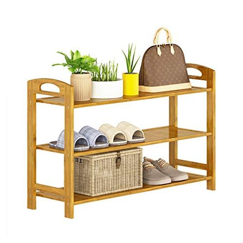 ZWJLIZI Haushaltsregal Massivholz Montage 3 Schichten Einfaches Schuhregal Türschuh Ablagefach Mehrere Größen (größe : 50 cm)