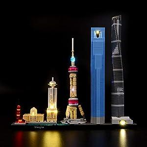 BRIKSMAX Kit di Illuminazione a LED per Architecture Shanghai, Compatibile con Il Modello Lego 21039 Mattoncini da… 1 LEGO