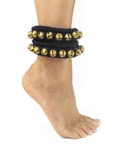 Baeres Indische Fußschellen Glöckchen Im 2er Set Fußkettchen (schwarz) -