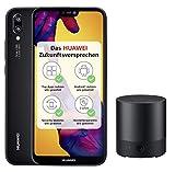 Huawei P20 lite Smartphone (5.84 Zoll, 64GB interner Speicher, 4GB RAM, 16 MP Plus 2 MP Kamera, Android 8.0, EMUI 8.0) schwarz - Deutsche Version + Bluetooth MiniSpeaker CM510, schwarz