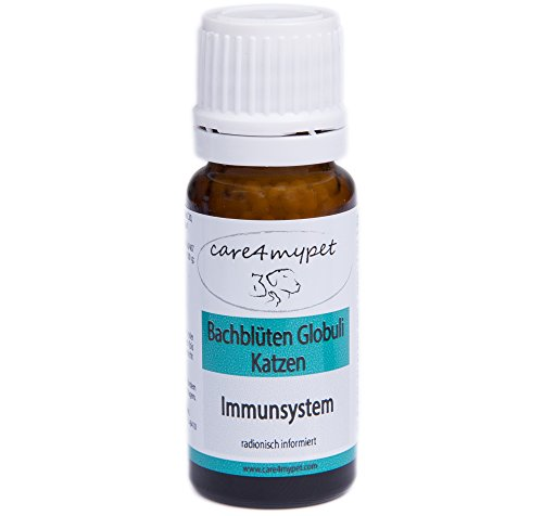 Care4mypet Bachblüten Globuli für Katzen Immunsystem beruhigend - bei Belastungen- innere Unruhe - wird oft für Jungtiere verwendet