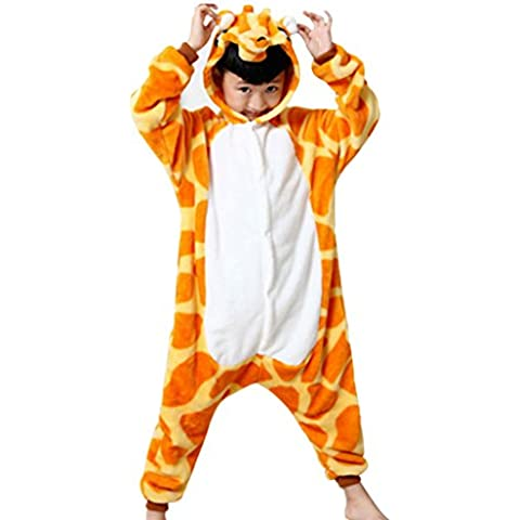 Happy Cherry - Pijama de Animal Infantil Disfraz Cosplay Traje de Halloween de Franela para Niños Niñas con Capucha - Bate Cebra Unicornio - Talla ES 2 años 3-4 años 5-6 años 7-8 años 9-10 años