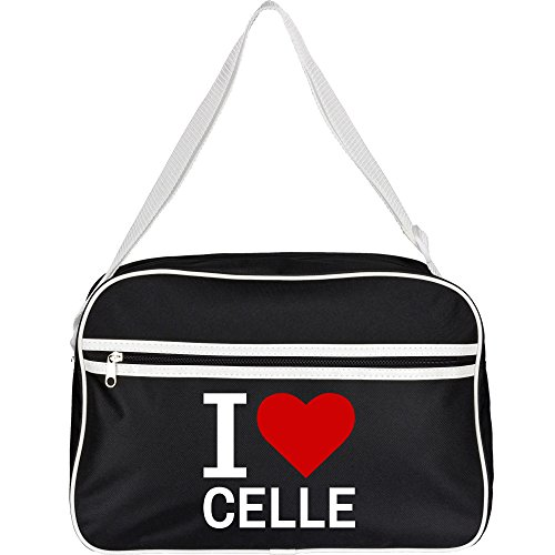 Retrotasche Classic I Love Celle schwarz