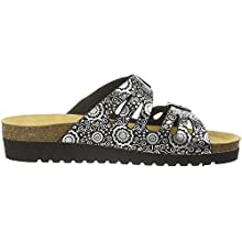 Lico Women's Bioline Lady'' Low-Top Slippers, Black Schwarz Silber Schwarz Silber, 7 UK