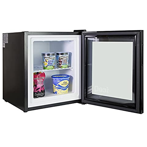iceQ 36 Litre Quality Counter Top Glass Door Display Mini Freezer For Ice Cream