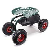 Sgabello giardino con ruote vano porta oggetti Sgabello officina rotante fino a 150 kg