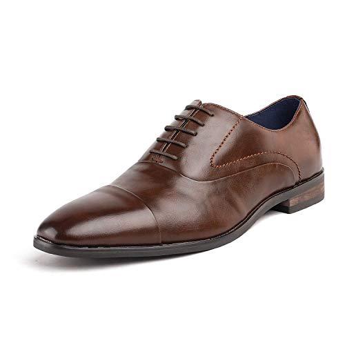 Bruno Marc Hutchingson_1 Zapatos de Cap Toe Oxford Vestir Clásico para Hombre Marrón 41.5 EU/8.5 US...