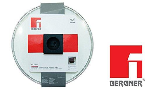 Bergner universal Tapa de cristal 24cm de diámetro para ollas Sartenes olla tapa de cristal