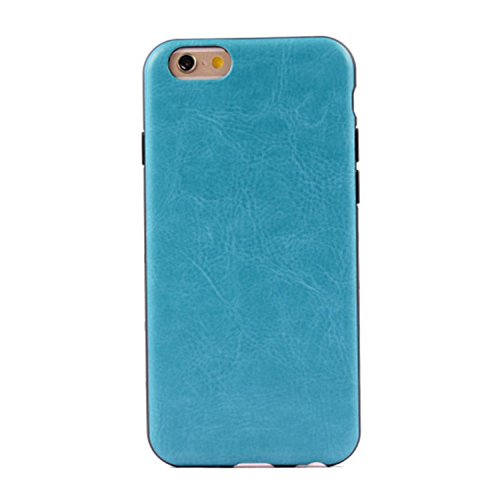 iPhone Case Cover bunte Muster Kunstleder Stil weichen Fall TPU + PC 2 in 1 Material Abdeckungsfall Haut für iPhone 6 6S ( PATTERN : Red , Size : IPhone 6/6S ) Blue