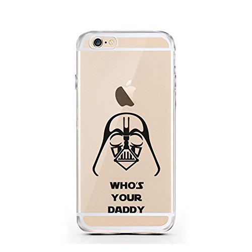 iPhone 5 5S SE Hülle von licaso® für das Apple iPhone 5S aus TPU Silikon Who's your Daddy Star Wars Darth Vader Muster ultra-dünn schützt Dein iPhone 5SE & ist stylisch Schutzhülle Bumper in einem (iP Daddy