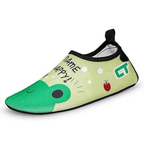 SITAILE Aquaschuhe Barfuß Schuhe Schwimmschuhe Badeschuhe Wasserschuhe Surfschuhe Sportschuhe für Kinder Frosch EU 22-23 -