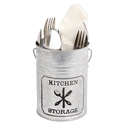 Zink Besteckkorb,Besteckkasten Besteck-Box Löffel Gabel Messer. Von Haus der Herzen®
