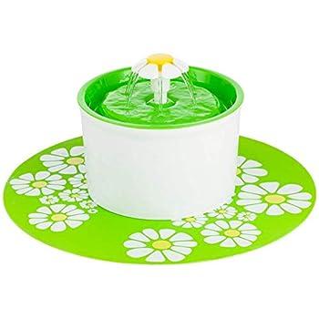 CJN Tapis De Sol en Silicone Imperméable pour Distributeur d'eau pour Fontaine d'eau Filtre Rond Ultra-Silencieux en Résine PP Ronde (Vert, Orange, Bleu),Green