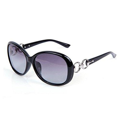 Westeng Frauen polarisierten Sonnenbrillen Dame Brillen mit großem Rahmen UV 400 Schutz für das Fahren/Angeln / Golf,Helles Schwarz